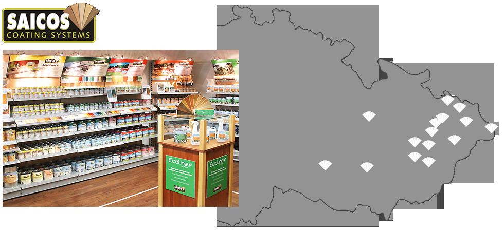 Seznam prodejců - přírodní oleje a vosky Saicos - oblast Morava